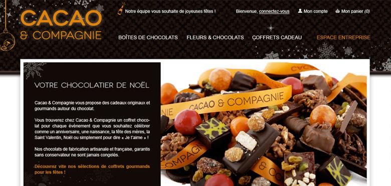 UX/UI du site e-commerce Cacao & Cie motorisé avec Prestashop - Toulouse
