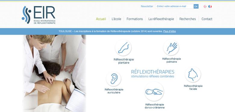 Accompagnement stratégique et gestion globale de la communication de l'Ecole Internationale de Réflexothérapie - Marseille