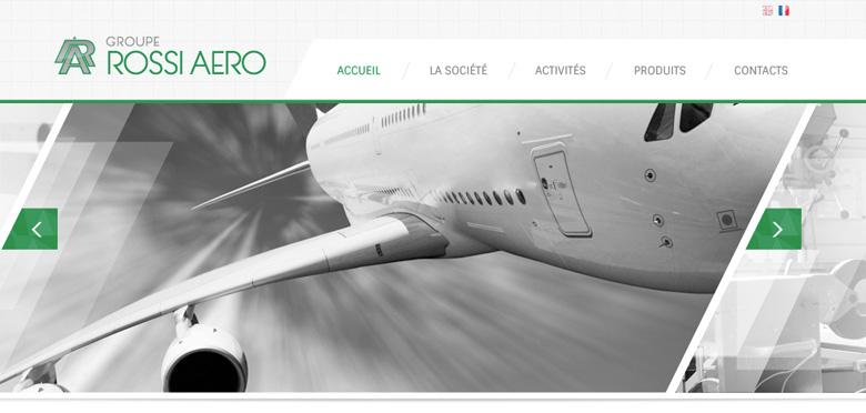 Réalisation avec WordPress du nouveau site internet du Groupe Rossi Aero, entreprise aéronautique Toulouse