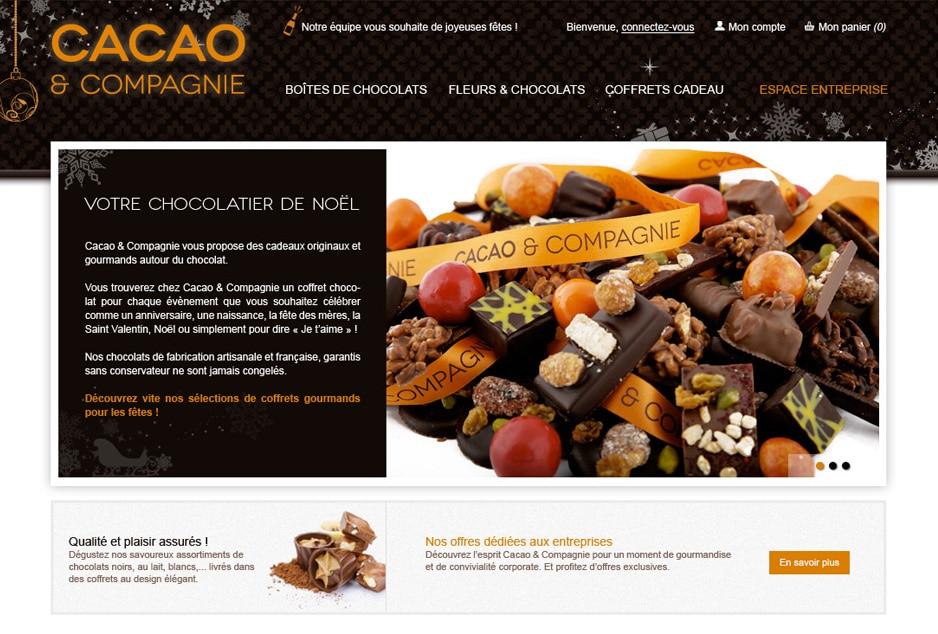 Branding e-commerce, expérience client, création de l'identité visuelle et ergonomie des interfaces de la boutique e-commerce Cacao et Compagnie à Toulouse