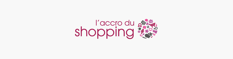 Réalisation du logo Accro du Shopping, mode - Paris, Ile de France
