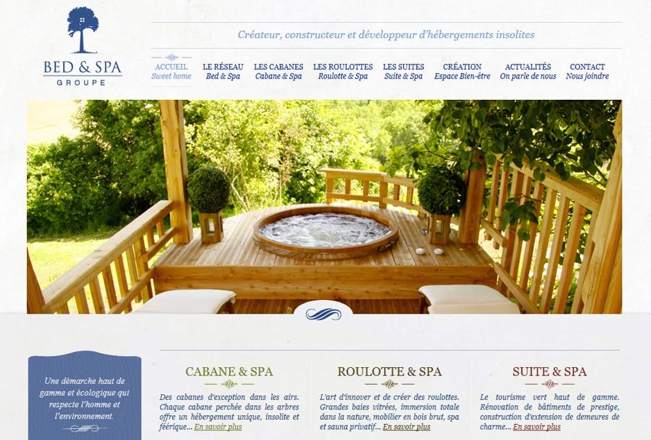 Réalisation du site corporate du Groupe Bed & Spa Montauban, développement web
