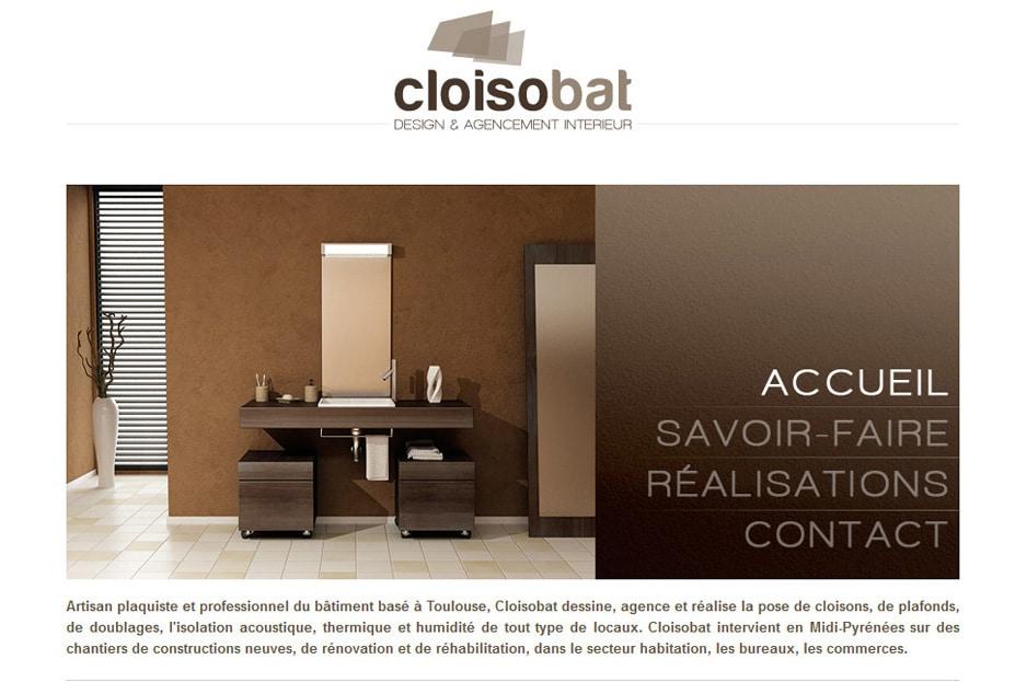 Réalisation du site web Cloisobat Toulouse (L'Union)