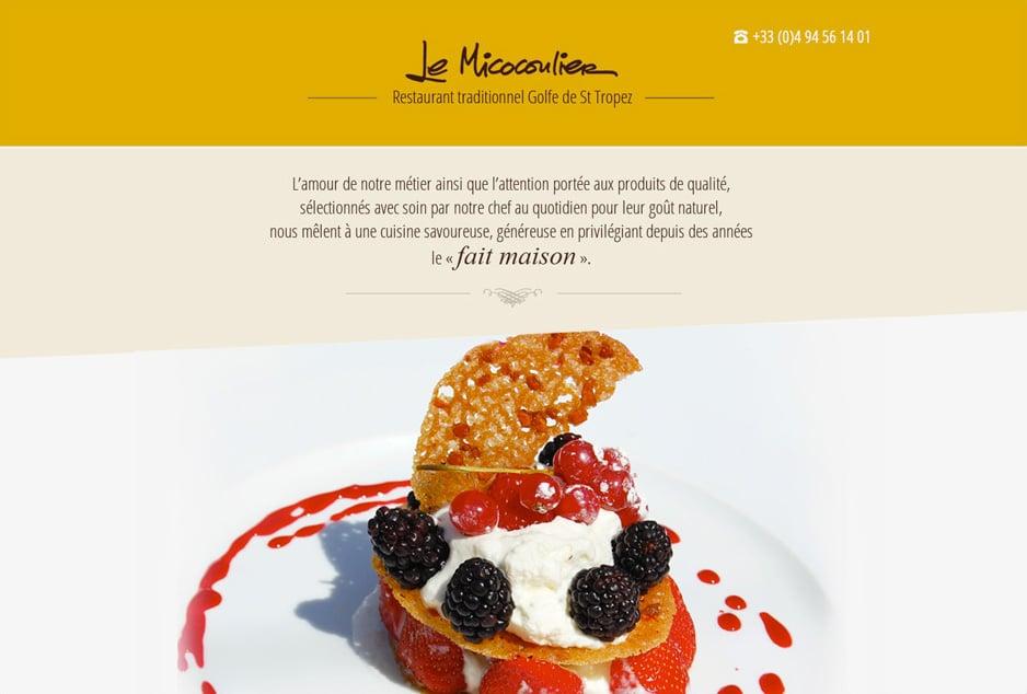 Refonte du site internet du restaurant Le Micocoulier en Provence