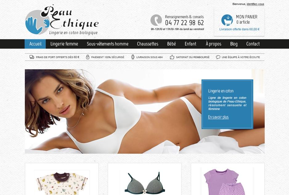Audit e-commerce, refonte de la boutique de vente en ligne Peau Ethique, marque bio et commerce équitable à Saint-Etienne