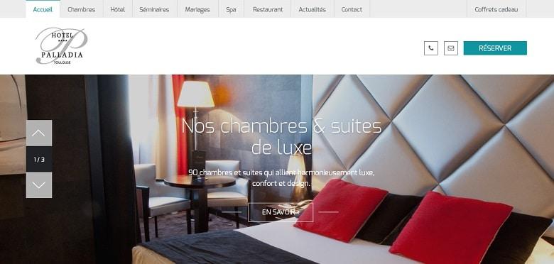 Création du nouveau site web de l'hôtel de luxe 4 étoiles Palladia - Toulouse