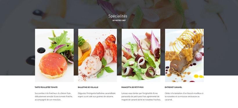 Design graphique et développement du site internet du restaurant gastronomique Palladia à Toulouse
