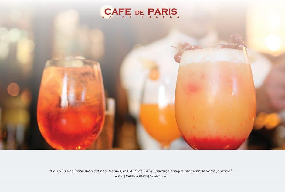 Création graphique et intégration responsive Bootstrap du site Café de Paris