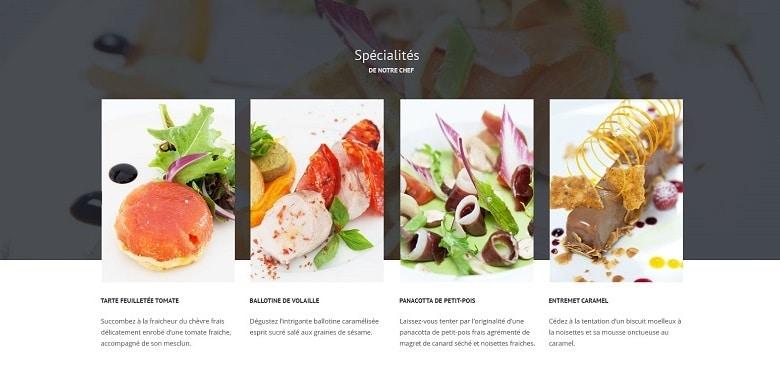 Graphisme, UX design, UI design et développement du site internet mobile du restaurant haut de gamme Palladia à Toulouse