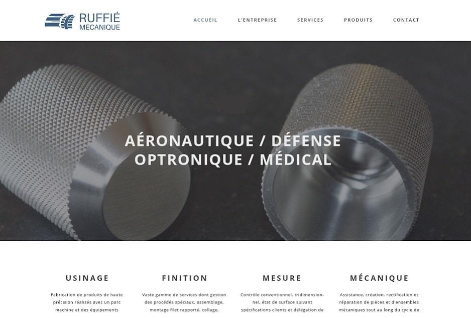 Audit du site internet, création du site responsive de l'entreprise aéronautique Ruffié (Aussonne / Blagnac), optimisation du temps de chargement des pages, monitoring du site web