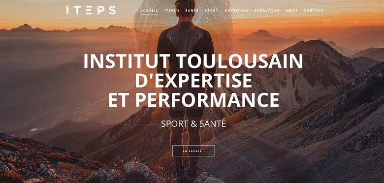 Communication globale de l'Institut Toulousain d'Expertise et Performance Sport / Santé situé à Muret