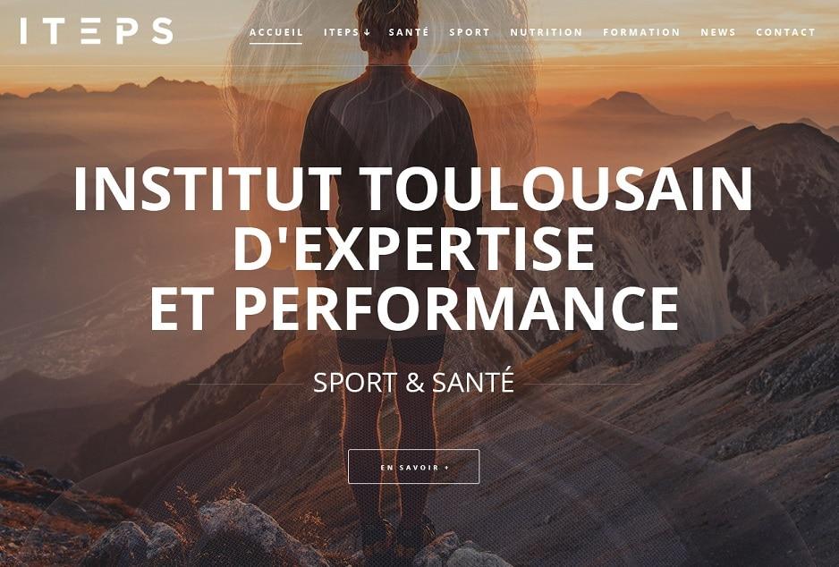 Graphisme, webdesign responsive, développement front-end/back-end WordPress du site ITEPS Sport et Santé à Toulouse (Muret), développeur WordPress