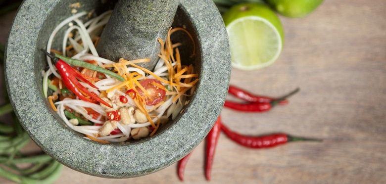Photographe culinaire Toulouse, shooting photo pour le food truck de street cuisine Miam Thai, design du site et développement WordPress