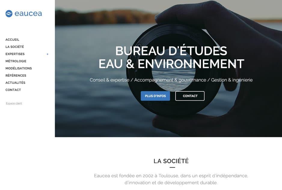 Création et développement sur-mesure WordPress du nouveau site de la société Eaucea à Toulouse