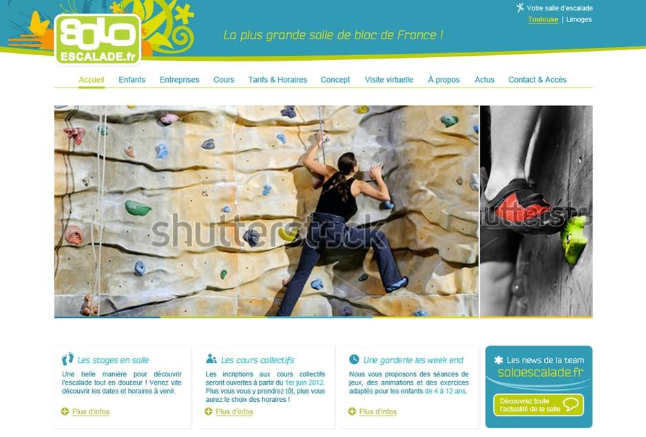Refonte graphique et ergonomique du site internet de la salle de sport Solo Escalade Toulouse / L'Union / Limoges