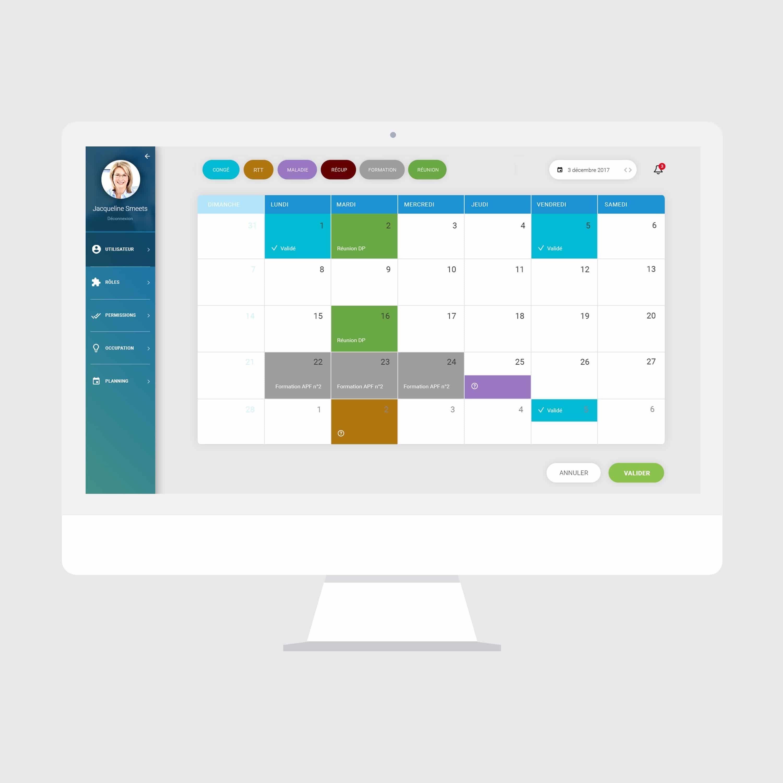 Graphisme & UX application ressources humaines / logiciel de gestion et management RH