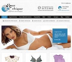 E-commerce lingerie bio Peau Ethique