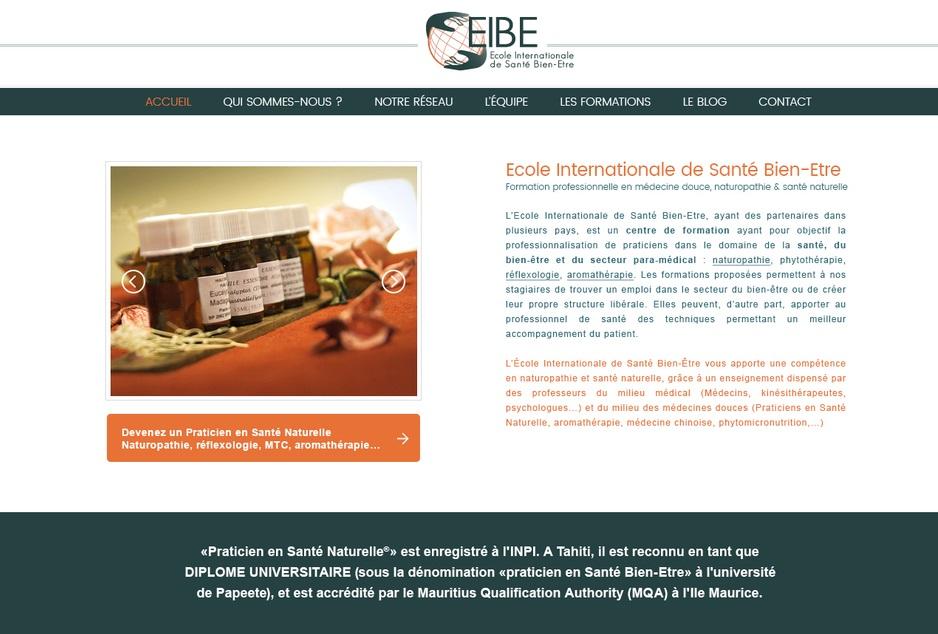Design et développement sur mesure du site EIBE Formation à Toulouse
