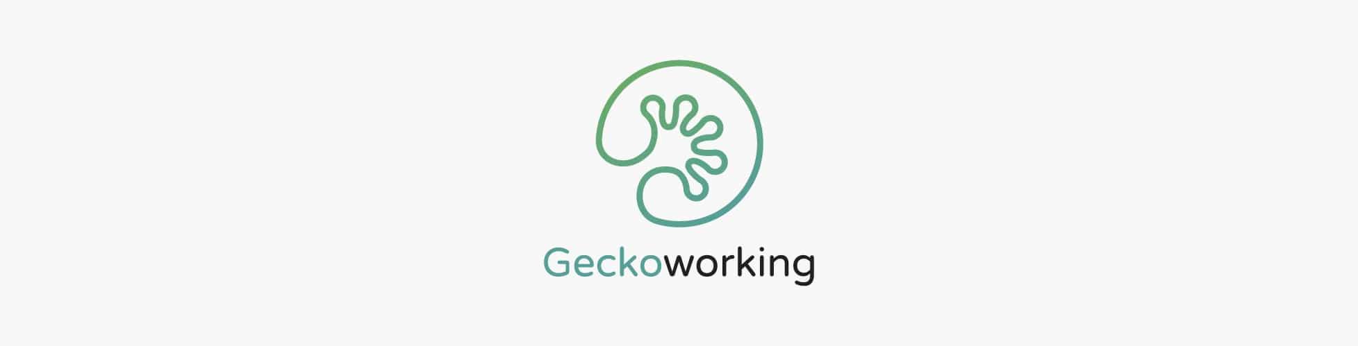 Design du logo Geckoworking & création de gammes couleurs, coworking Toulouse