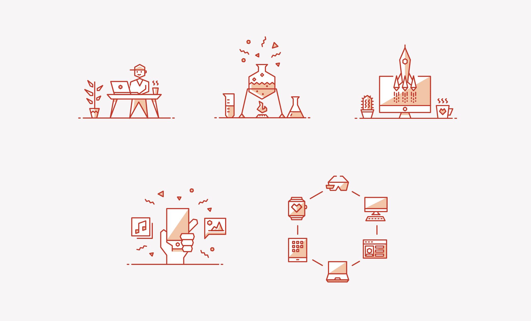 processus créatif illustré marketing et pub