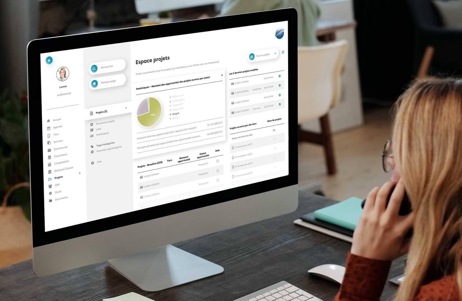 Design thinking & UI des interfaces CRM / ERP via le logiciel open source Dolibarr pour une entreprise de transport à Mazamet (Tarn) - Transport, logistique, livraison, mobilité.
