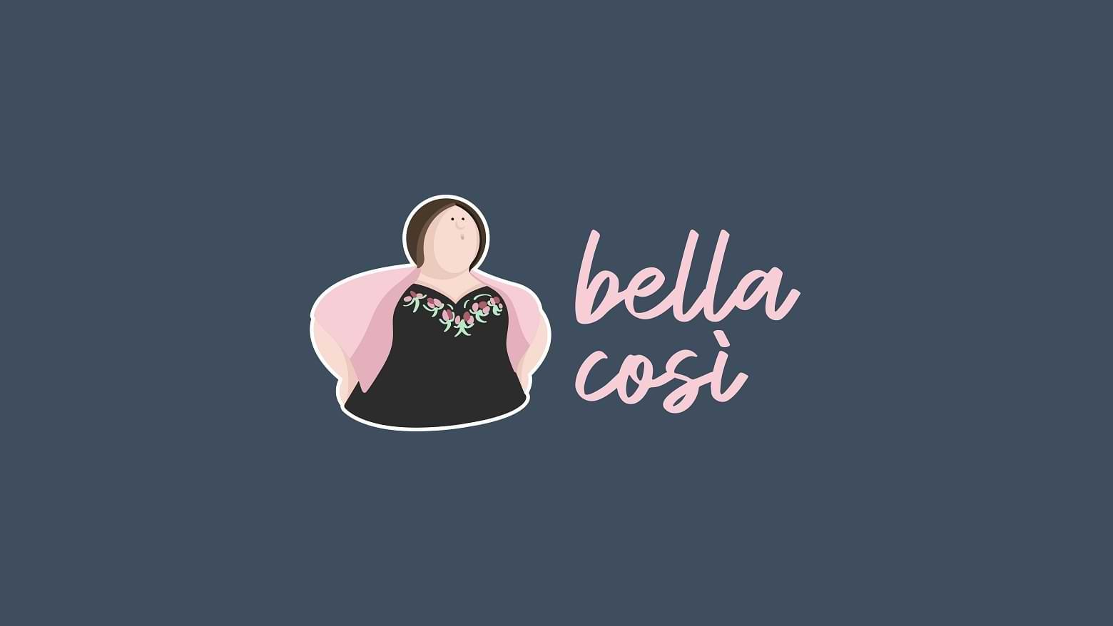 Identité visuelle, logo design, flyer, carte de visite, emballage alimentaire & charte graphique Bella Cosi / Pizzeria mobile / Traiteur événementiel / Epicerie fine