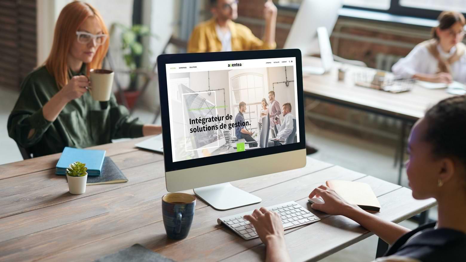 Site corporate Axentea, intégrateur de solutions de gestion, membre Top League SAGE