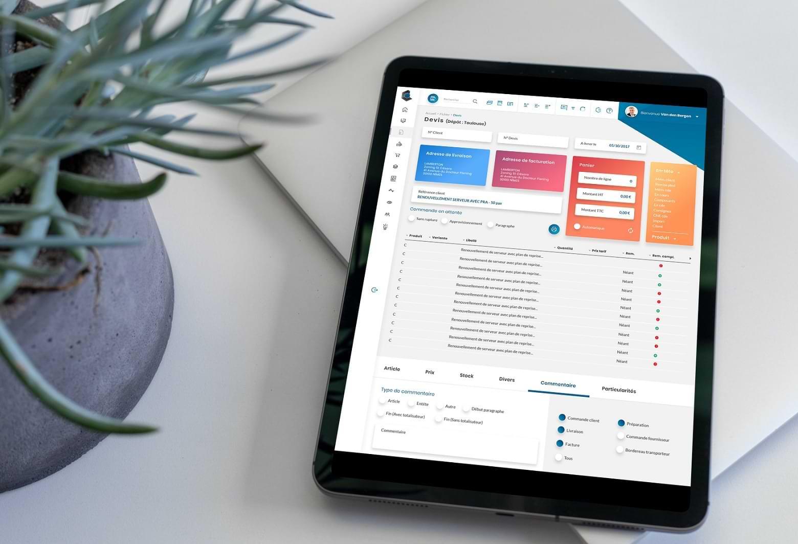 Refonte graphique et ergonomique du logiciel de gestion, animation de workshop à Toulouse, charte digitale, conseil et conception UX