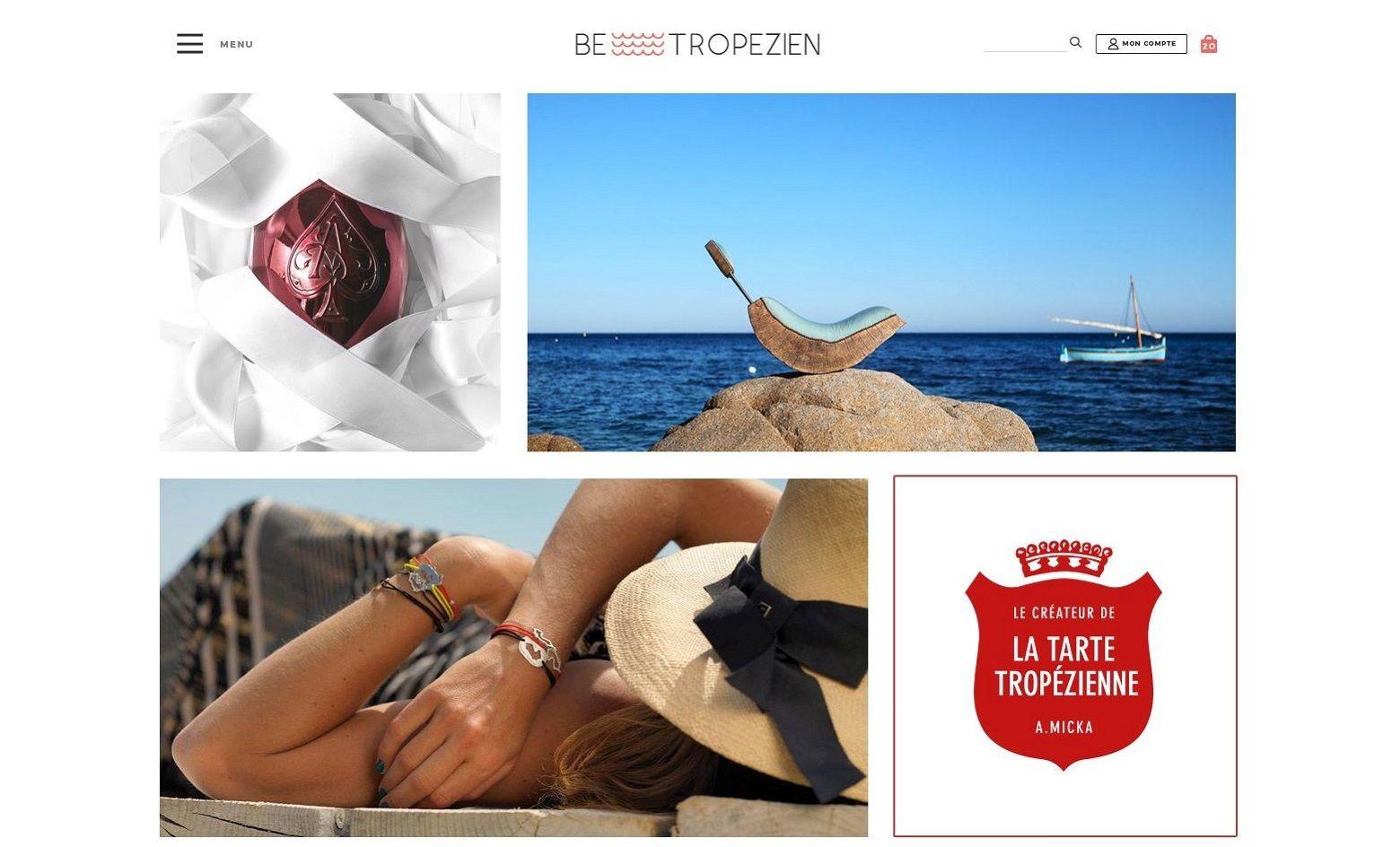 Conseil en communication et marketing e-commerce, expert PrestaShop, design de la boutique en ligne de luxe BeTropezien et publicité magazine
