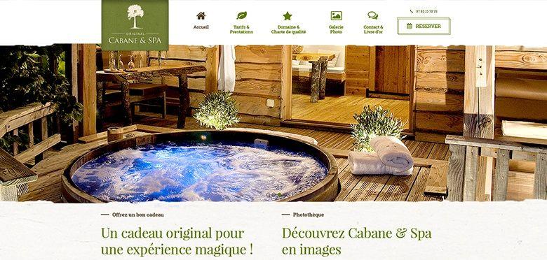 Communication commerciale, marketing hôtelier, création du site Cabane & Spa Montauban