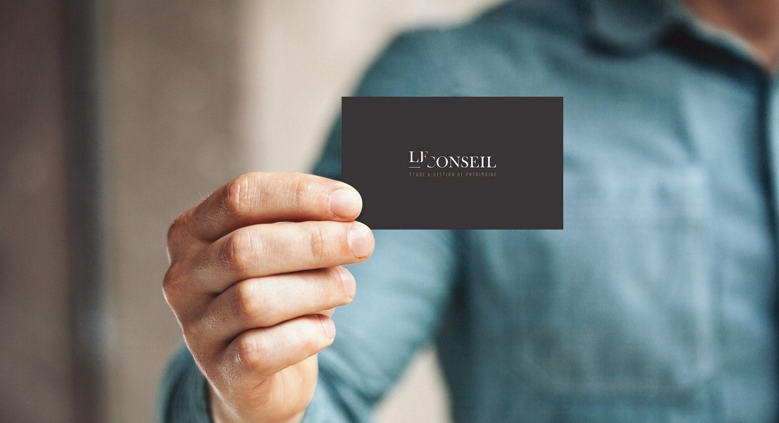 Design de marque, logo et identité graphique LF Conseil, gestion de patrimoine Toulouse