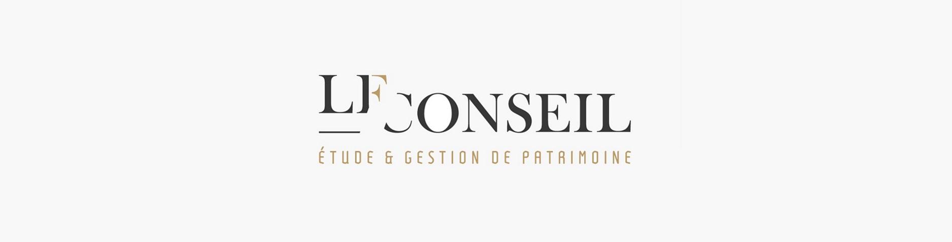 Création du logo LF Conseil, expert en gestion de patrimoine