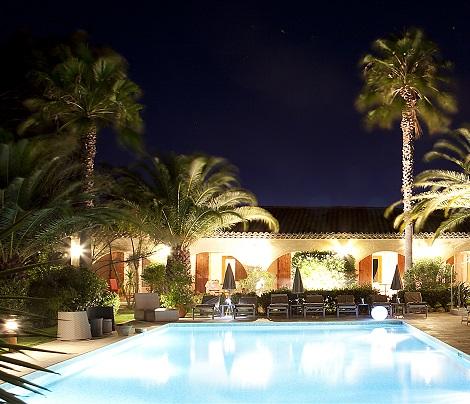 Webdesign de l'hôtel La Garbine Saint Tropez