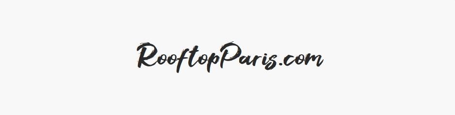 Création du logo RooftopParis.com, le site qui sélectionne les meilleurs bars, restaurants & hôtels avec toits terrasses