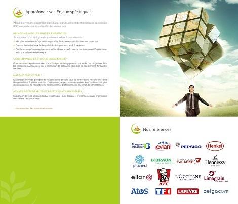 Plaquette cabinet conseil en développement durable & RSE