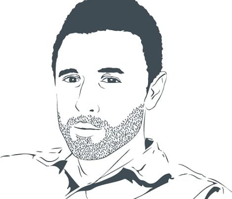 Design du blog & illustration portrait Nicolas Duffard