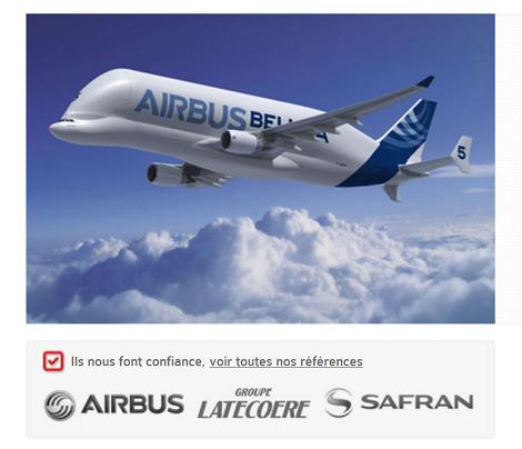 Site corporate Groupe BEC bureau d'études en aéronautique