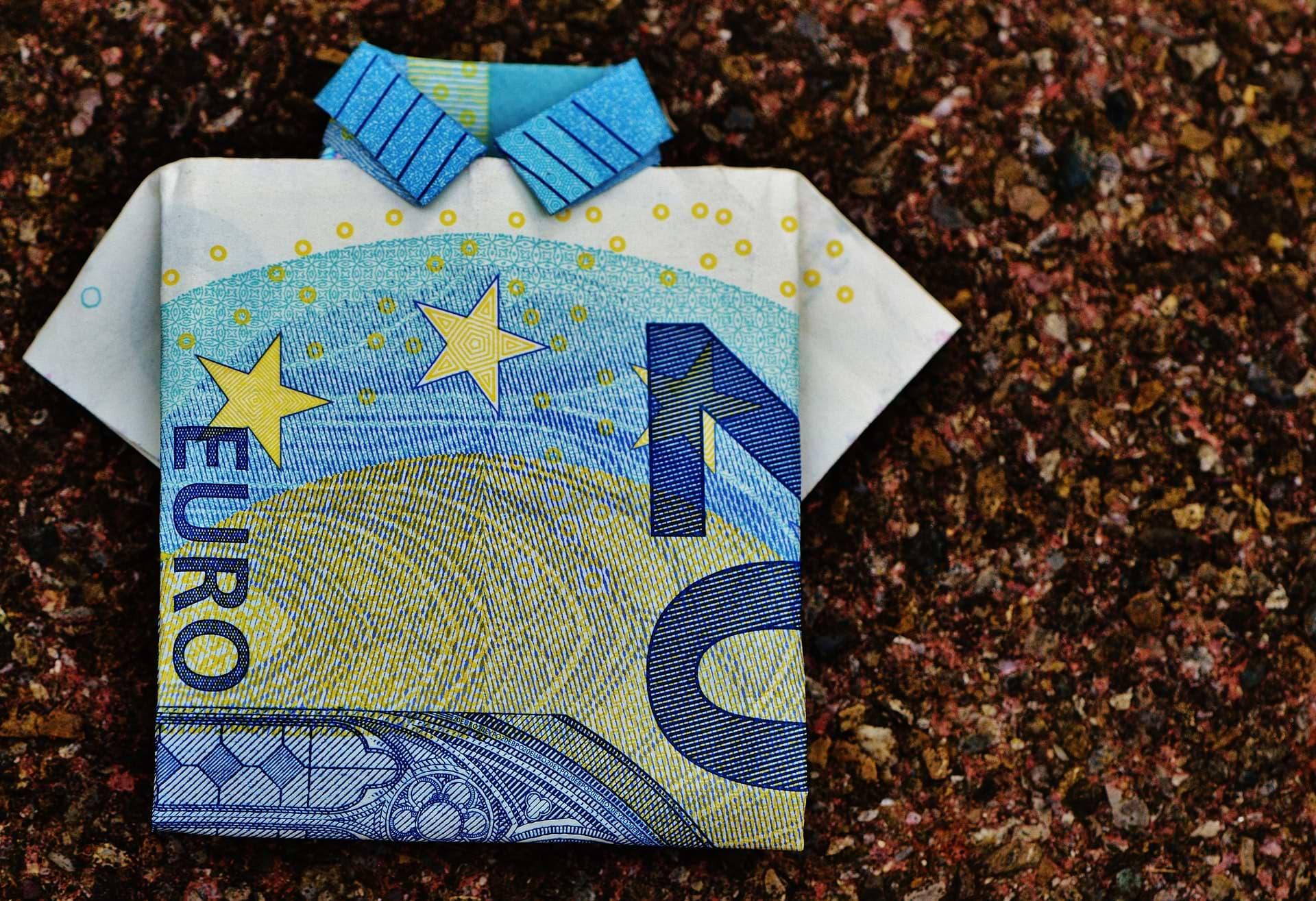 Billet plié en origami