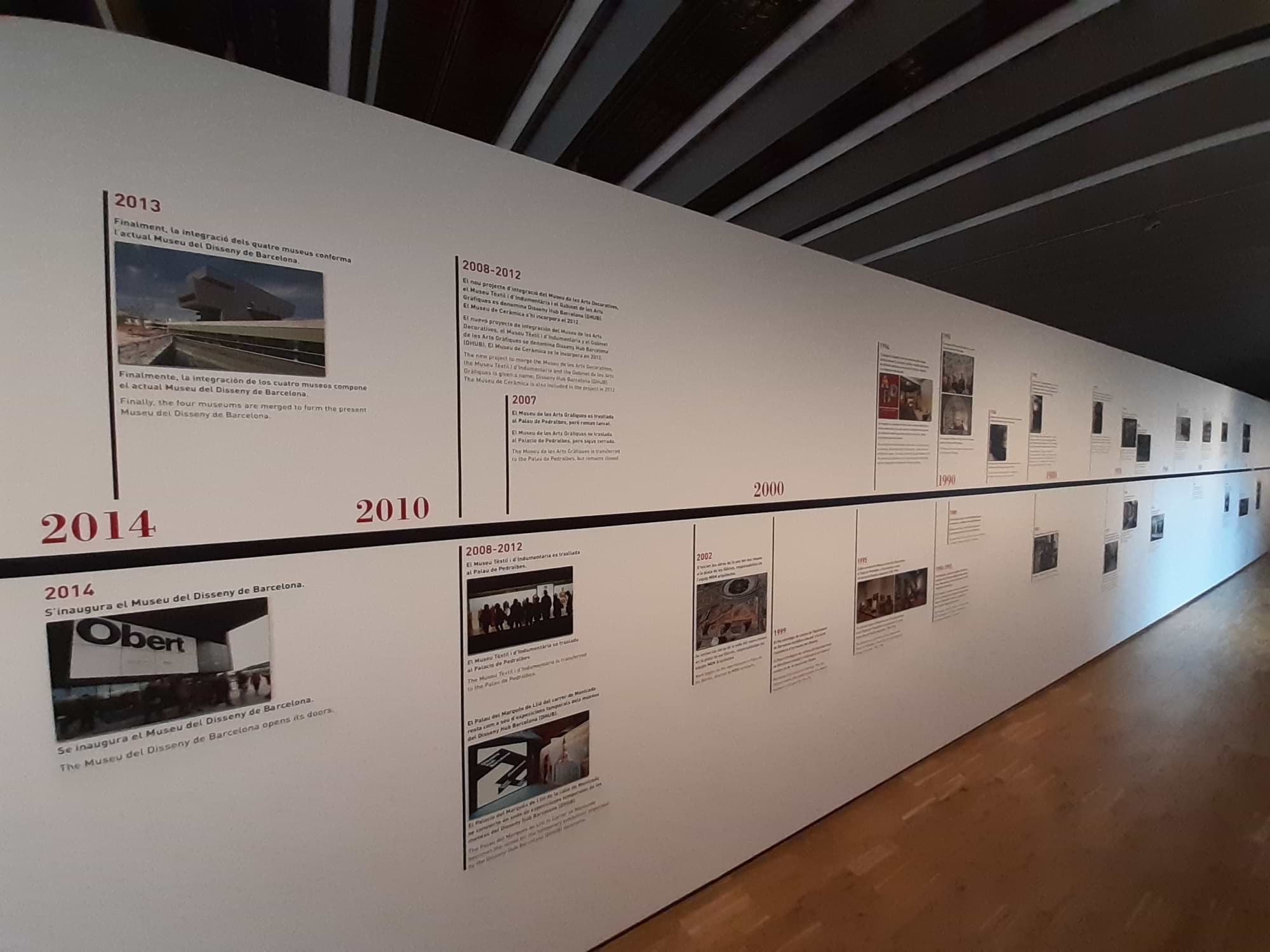 Chronologie du musée du design Barcelone