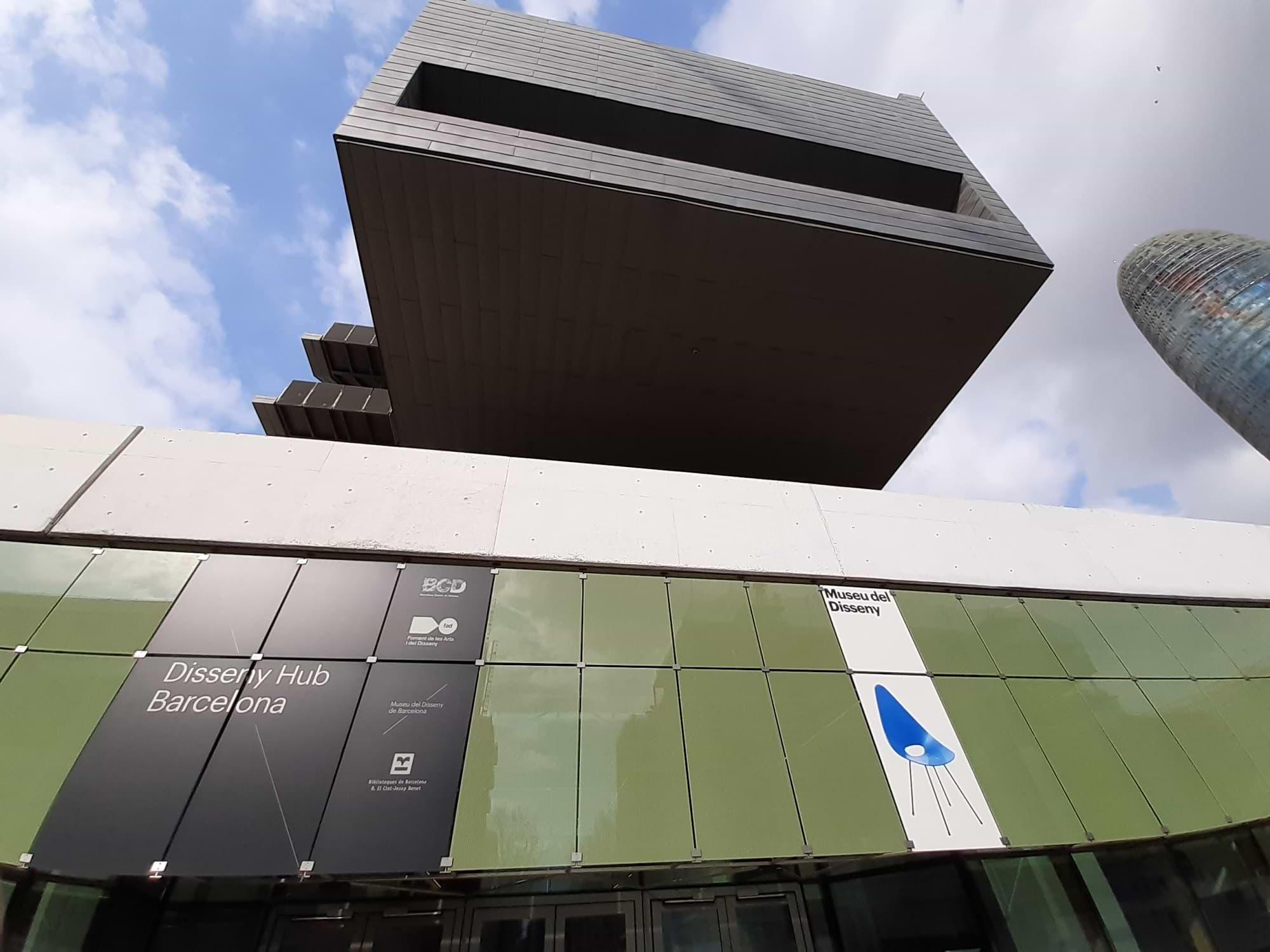 Bâtiment du Musée de Design Barcelone Glories